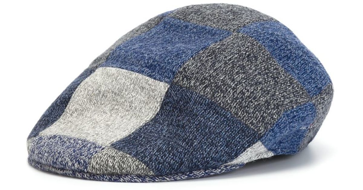 d598de0a38f Lyst - Kiton Patchwork Cap in Blue for Men