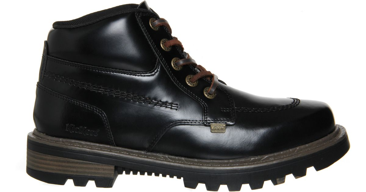 kickers stargent boots in black for lyst