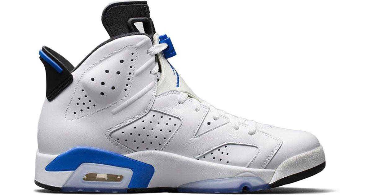 brand new a4f75 5163c Nike - White Air Jordan Retro 6 'sport Blue' for Men - Lyst