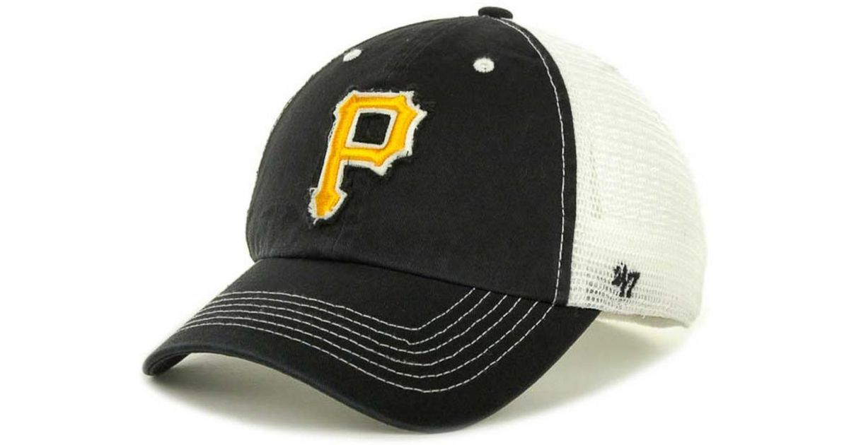 free shipping d60c2 1f214 ... real lyst 47 brand pittsburgh pirates mlb blue mountain franchise cap  in black for men bc74b