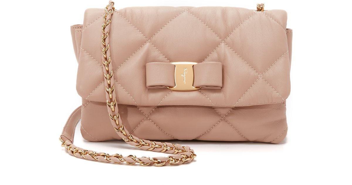 047fc21f2b35 Lyst - Ferragamo Gelly Shoulder Bag in Natural