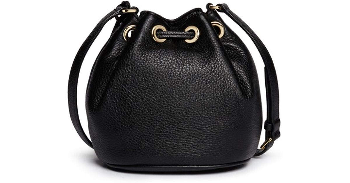 f9866425f3 ... france michael michael kors jules leather crossbody bucket bag in black  lyst 16e93 12c6f