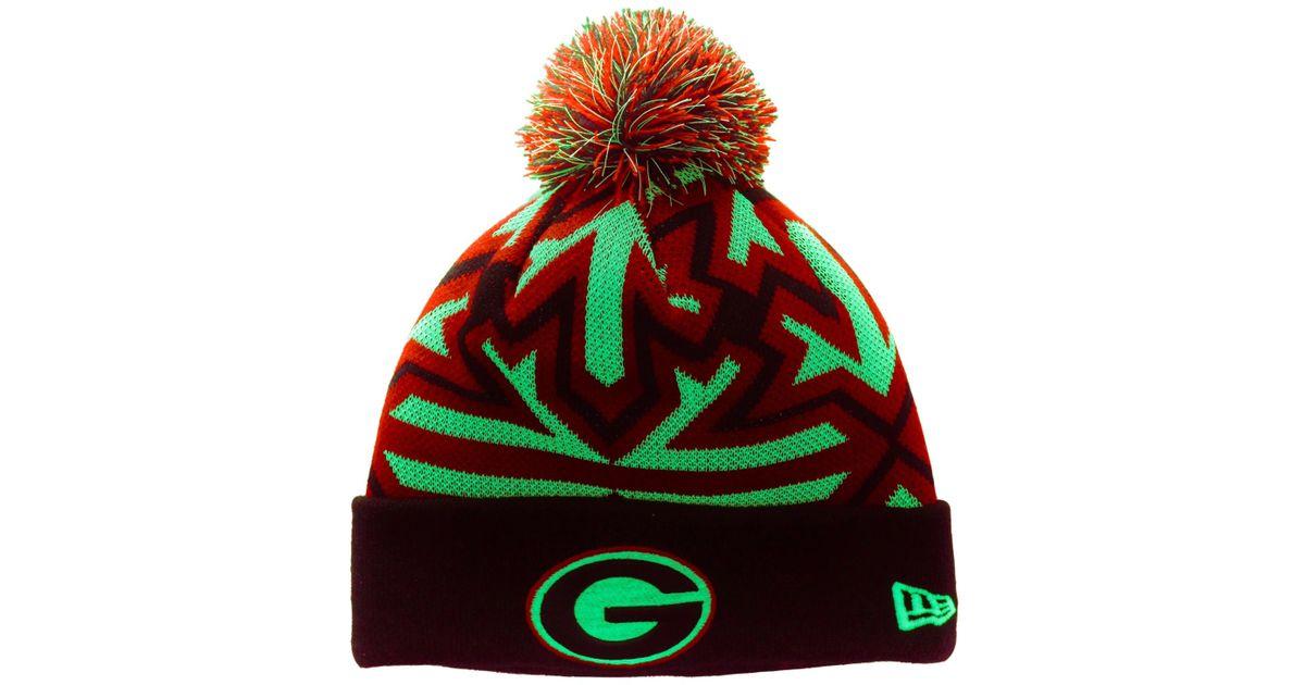 Lyst - Ktz Georgia Bulldogs Glowflake Knit Hat in White for Men 6a91f5dedad