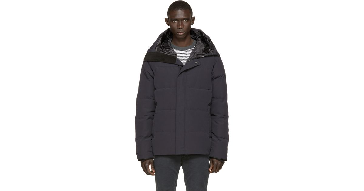 Canada Goose montebello parka replica store - Canada goose Navy Black Label Macmillan Parka in Blue for Men ...