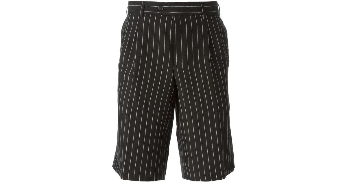 44e20d6c696fa Casely-Hayford Pinstripe Tailored Shorts in Black for Men - Lyst