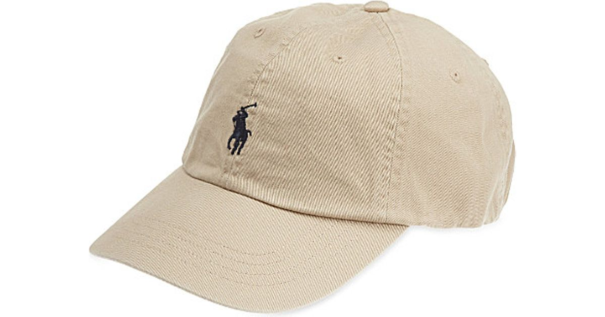 ba5333b16 Polo Ralph Lauren Classic Pony Baseball Cap in Natural for Men - Lyst