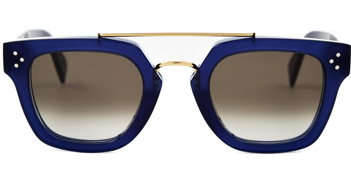 celine sunglasses blue and brown