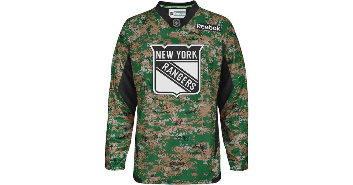 Lyst - Reebok Men s New York Rangers Camo Jersey in Green for Men ababd8711f8