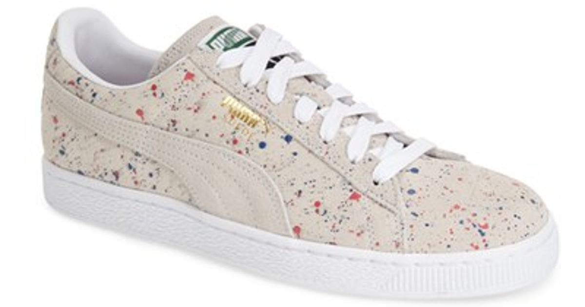 wholesale dealer 3b577 dc94a PUMA  Suede Classic - Allover Splatter  Sneaker in White for Men - Lyst
