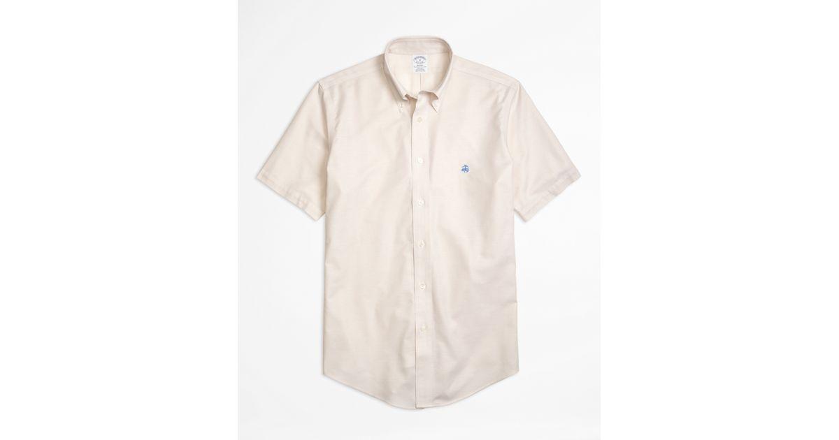 Brooks brothers non iron regent fit short sleeve oxford for Brooks brothers non iron shirts review