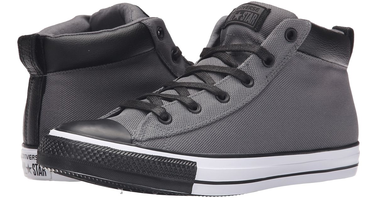 1e7e8ddb0d90 Lyst - Converse Chuck Taylor® All Star® Street Nylon Leather Hi in Gray for  Men