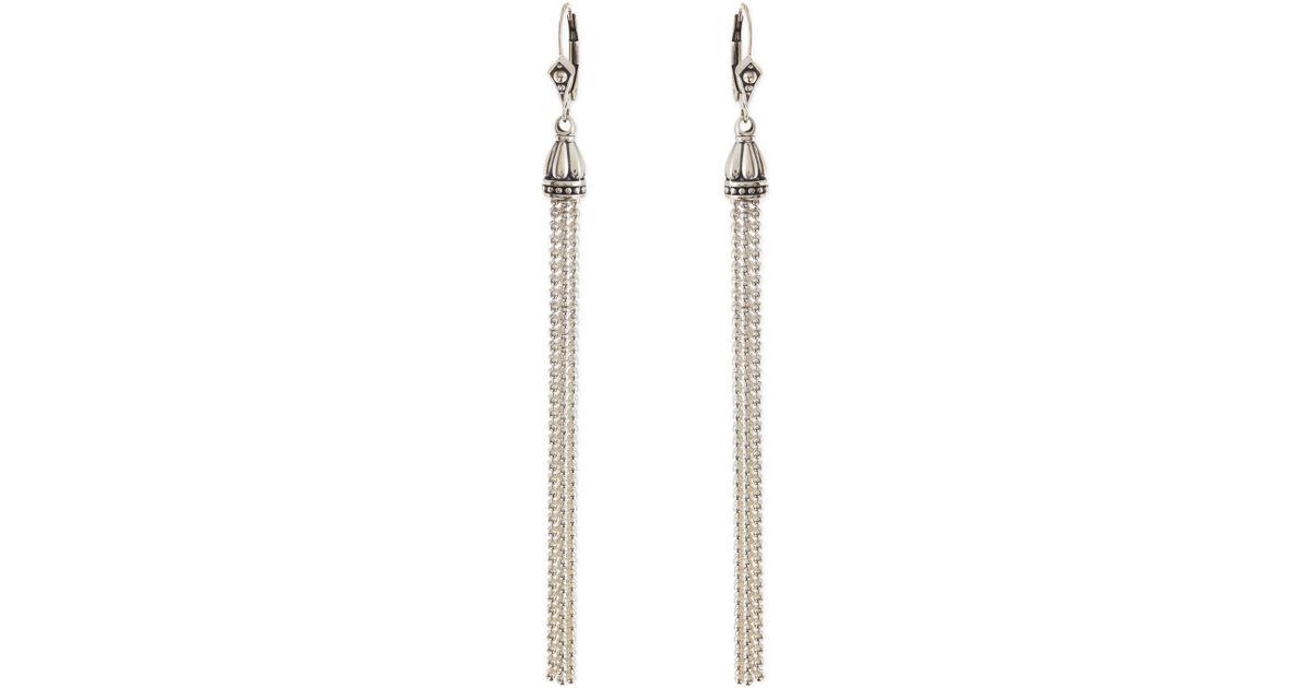 9ac700eaf2c39f Lagos Sterling Silver Chain Tassel Earrings in Metallic - Lyst
