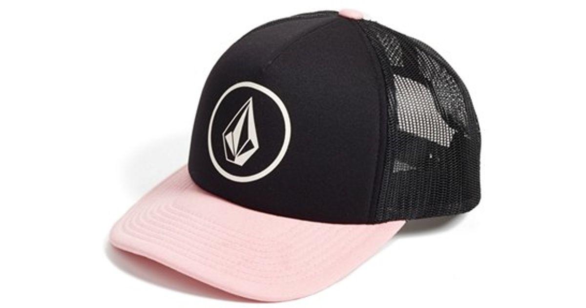 8a42712ef7f Lyst - Volcom  nacho  Trucker Hat in Black