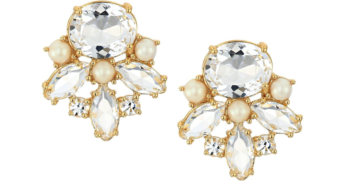 Lyst Kate Spade New York Say Yes Oopsie Daisy Mismatched Earrings In Metallic