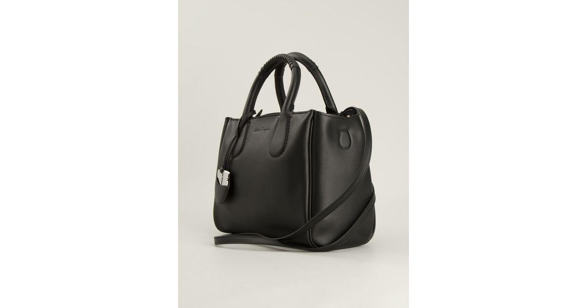 fb73a616e5b9 Ferragamo Nolita Tote Bag in Black - Lyst