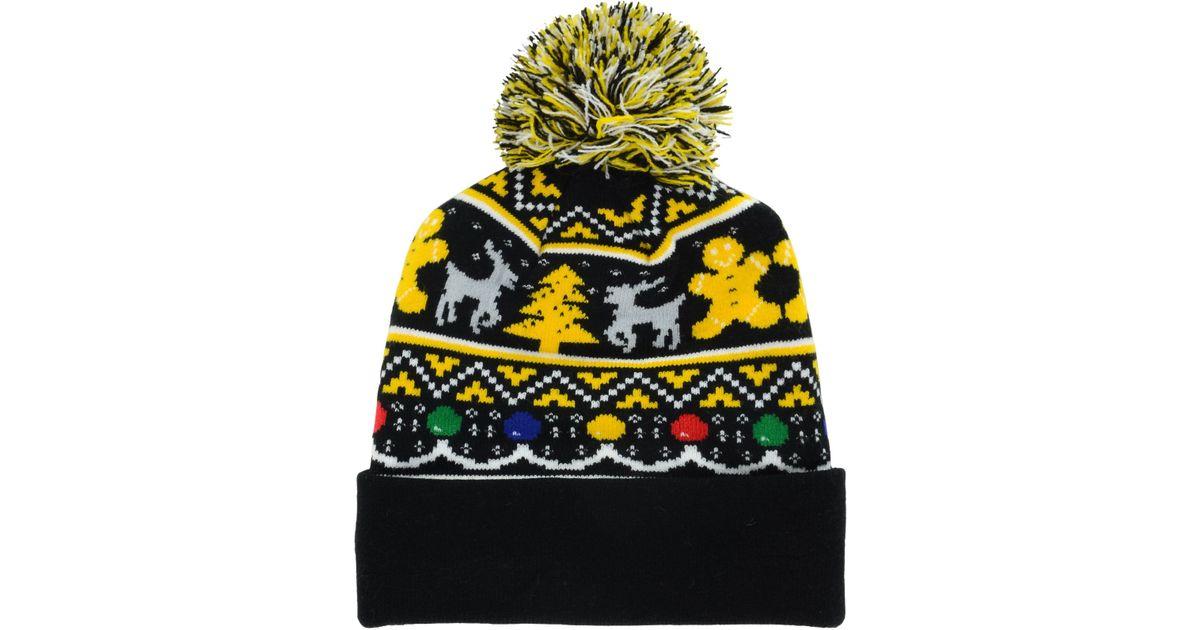 best website 57fcf 328d8 KTZ Pittsburgh Steelers Christmas Sweater Pom Knit Hat for Men - Lyst