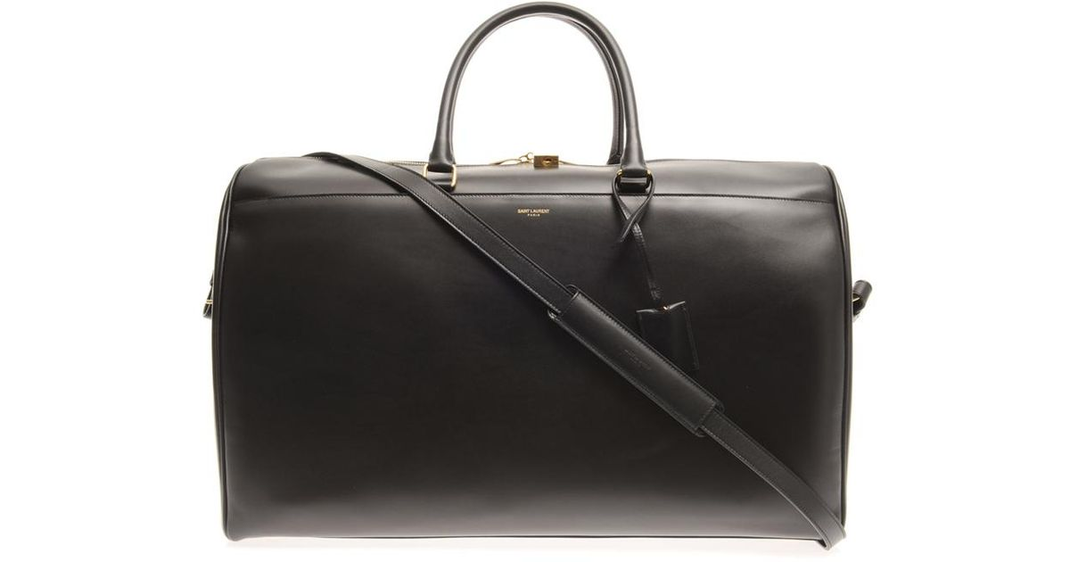 5f78e166f5a Saint Laurent Leather Weekend Bag in Black for Men - Lyst