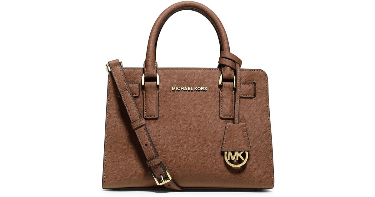 f42b7bc17b0b 1234567891011 29367 6f698; shop lyst michael michael kors dillon small  leather satchel bag in brown a6c14 1435a