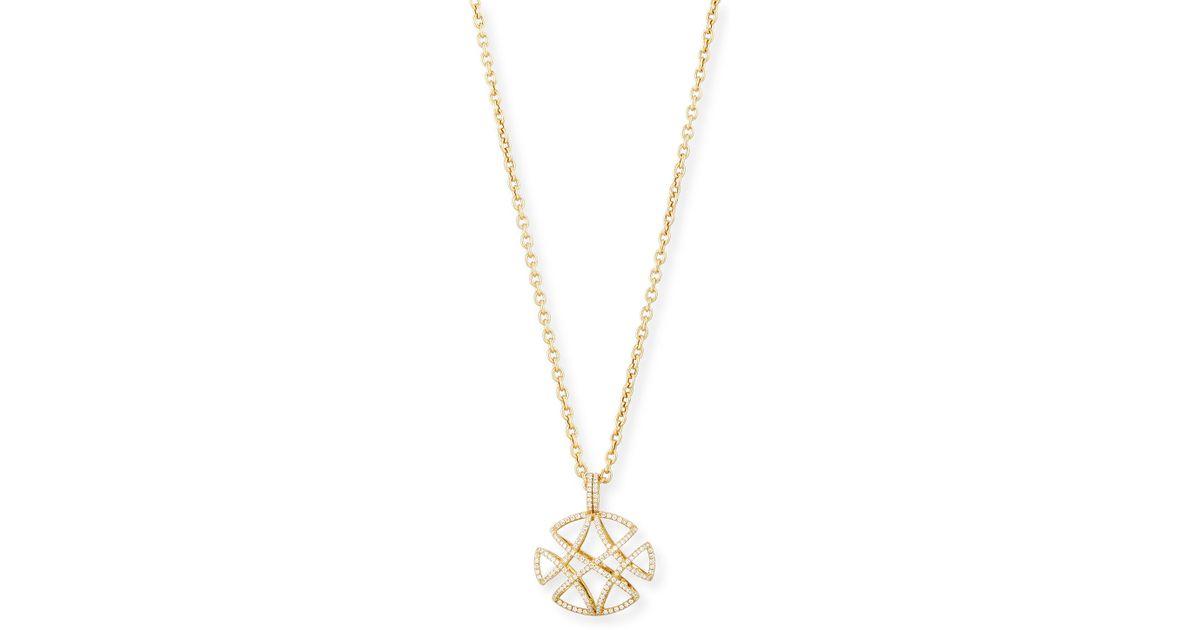 Goshwara Freedom Pavé Diamond Pendant Necklace, 30L
