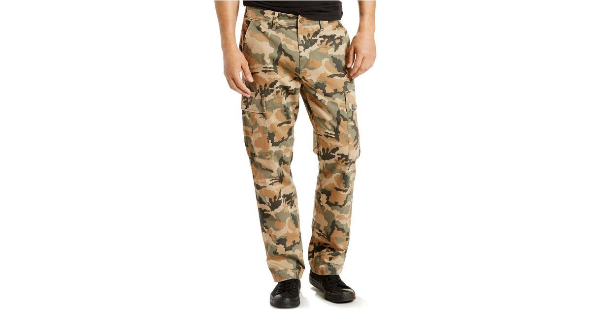 79acc5e3008 Levi's 541 Regular-fit Athletic Harvest Gold Cargo Pants in Natural for Men  - Lyst
