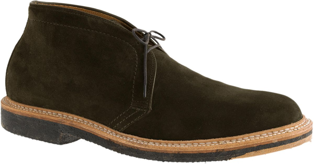 J Crew Alden Suede Chukka Boots In Green For Men Lyst