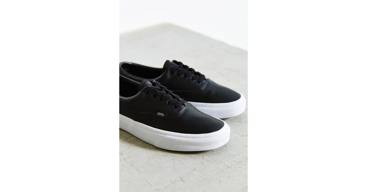 8981b14d66a Lyst - Vans Era Perforated Leather Sneaker in Black