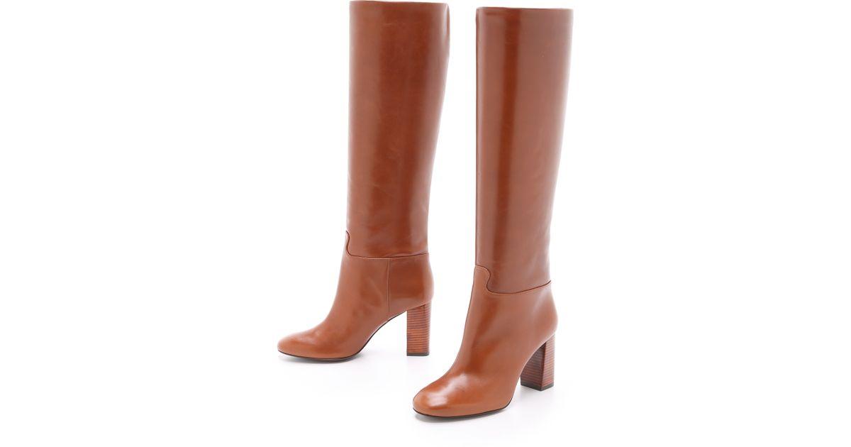 dc6b13b83 Lyst - Tory Burch Devon Tall Boots - Black in Brown
