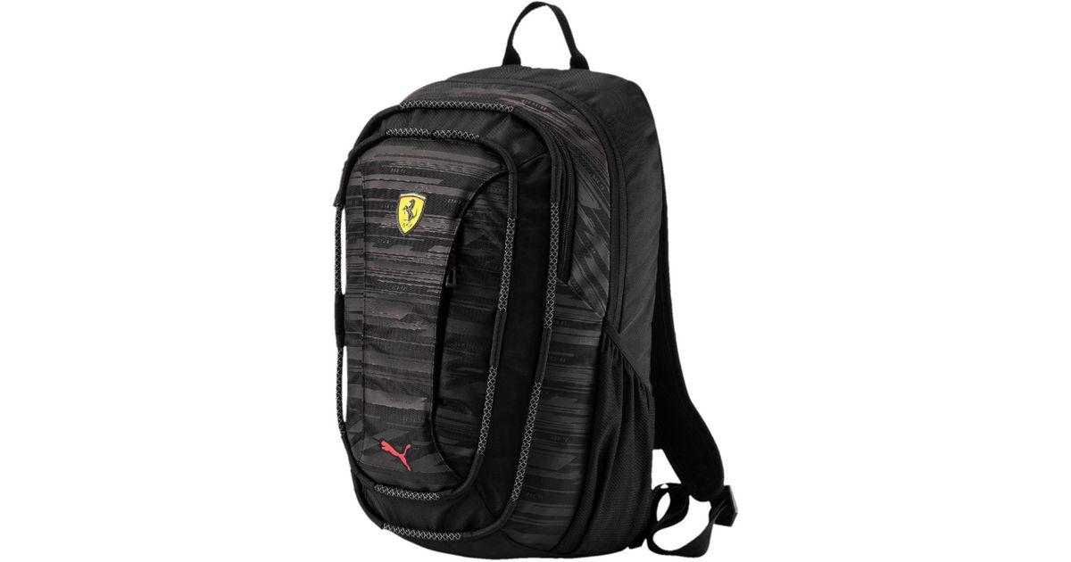 6ce651a958 PUMA Ferrari Transform Backpack in Black for Men - Lyst