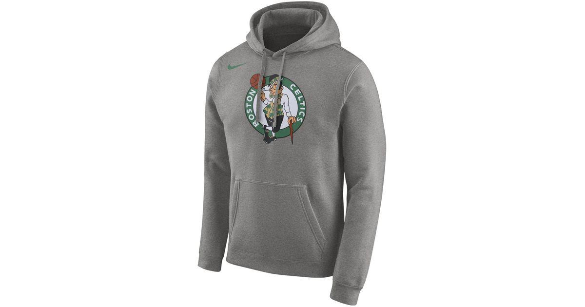 ace7a9bb6c18 Nike Boston Celtics 2018-2019 Sweatshirt in Gray for Men - Lyst