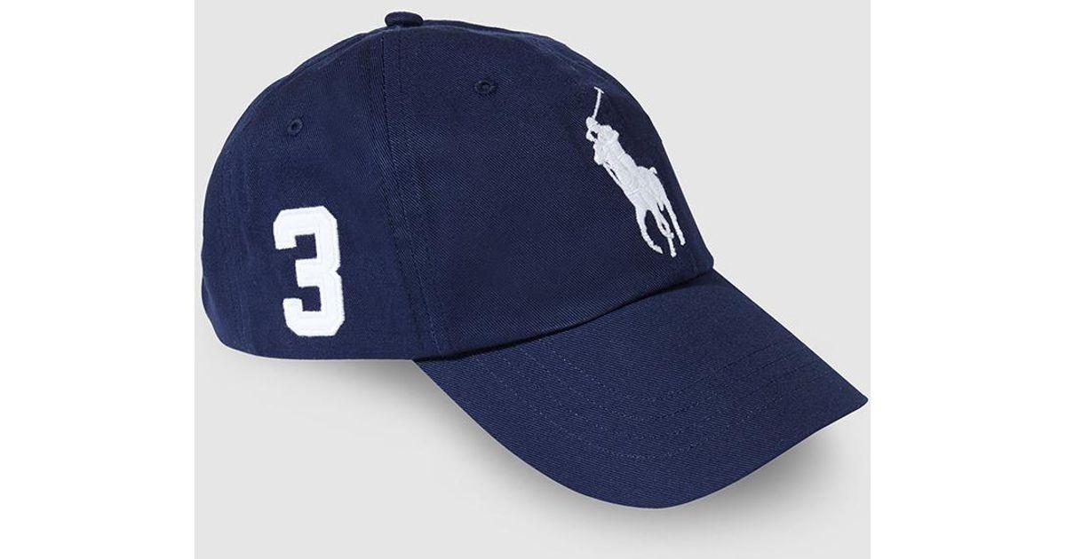 5742d521262 Lyst - Polo Ralph Lauren Mens Navy Blue Cotton Baseball Cap in White for Men
