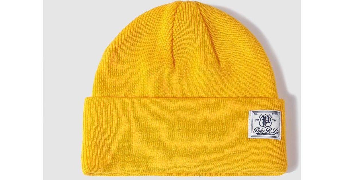 Lyst - Ralph Lauren Yellow Hat in Yellow for Men 95160e117df