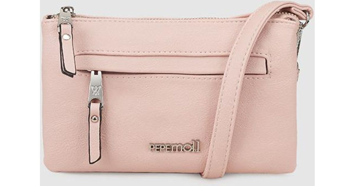 70d56963b0fe Lyst - Pepe Moll Wo Small Pink Crossbody Bag With Brand Detail in Pink