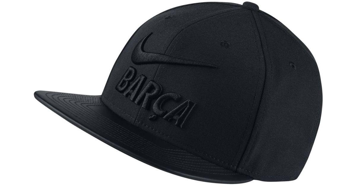 5c9e9b36080 Lyst - Nike Fc Barcelona Pro Pride Cap in Black for Men