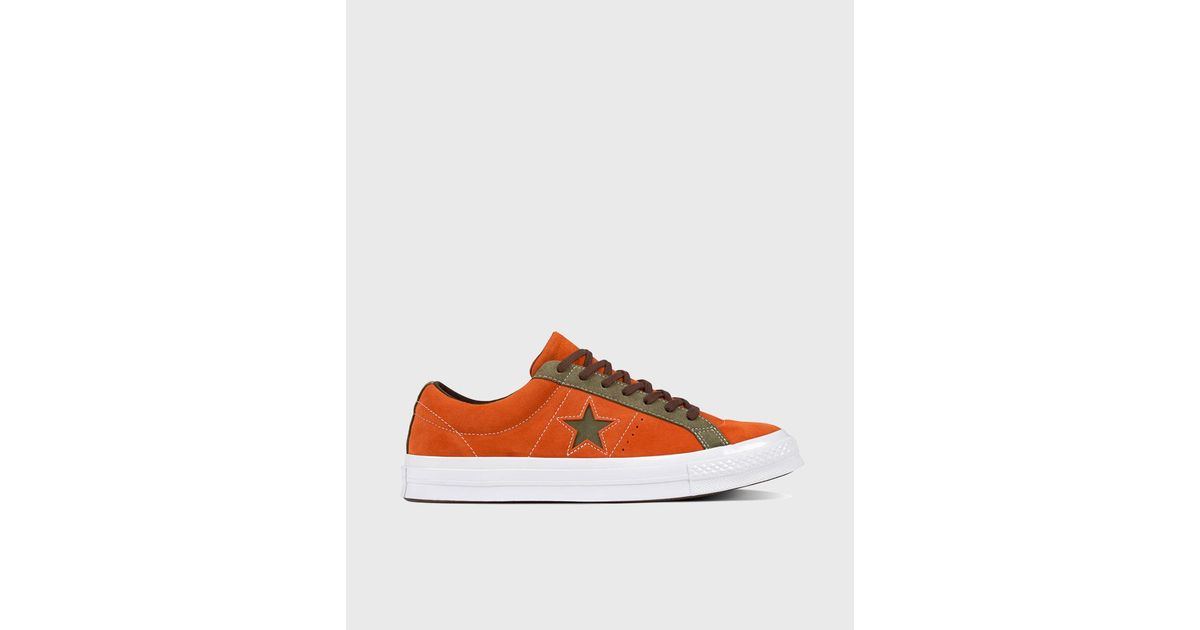 441e43ca30f Converse One Star Carnival Ox Unisex Casual Trainers in Orange for Men -  Lyst