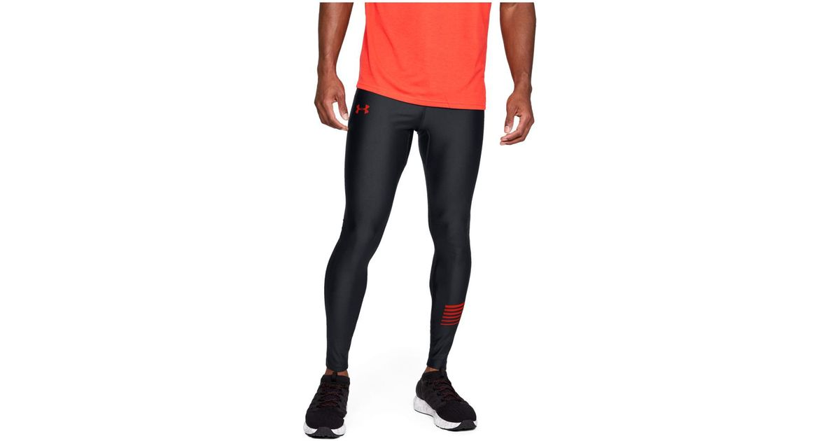 a16d0469d1636 Lyst - Under Armour Heatgear Run Graphic Tight Tights in Black for Men
