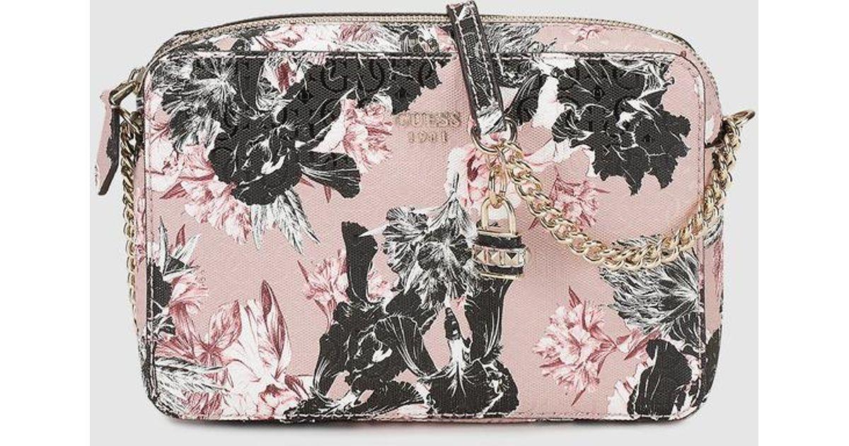 33cb64751567 Guess Wo Floral Print Crossbody Bag - Lyst