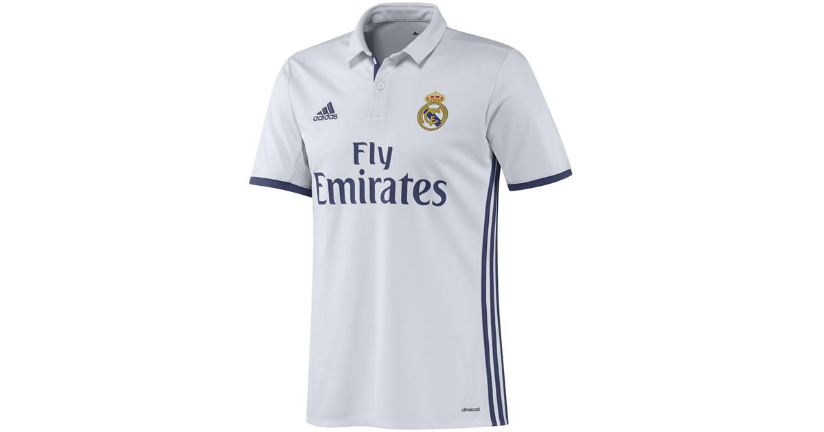 new style f6c5f 81fd0 Adidas Originals White Real Madrid Cf 2016-2017 Uefa Champions League Home  Strip T-shirt for men