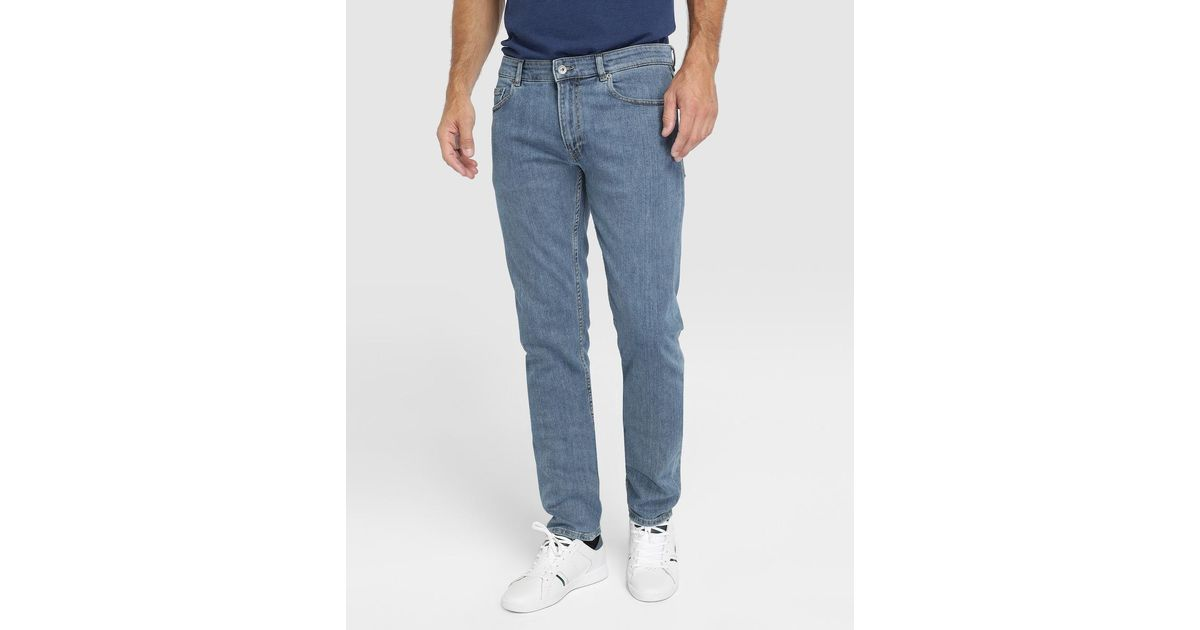 02d926b8 Lacoste - Slim-fit Blue Jeans for Men - Lyst