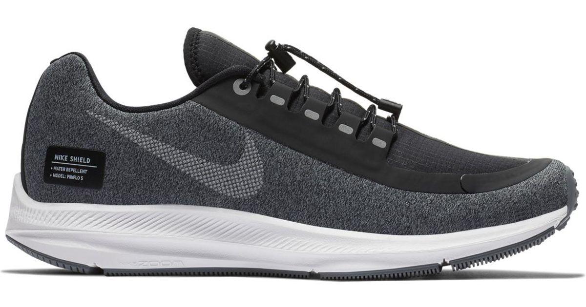 b1187a2d3dad Lyst - Nike Air Zoom Winflo 5 Run Shield Running Shoes in Black