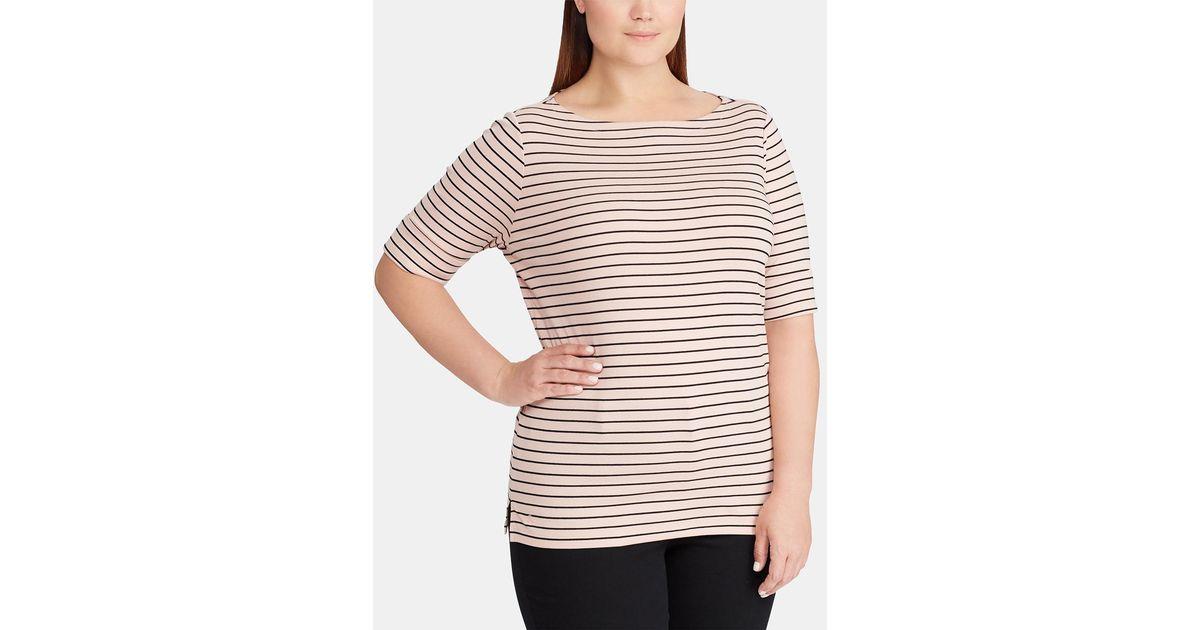 ee9d7aa14b Lyst - Denim   Supply Ralph Lauren Plus Size Basic Striped T-shirt in  Natural