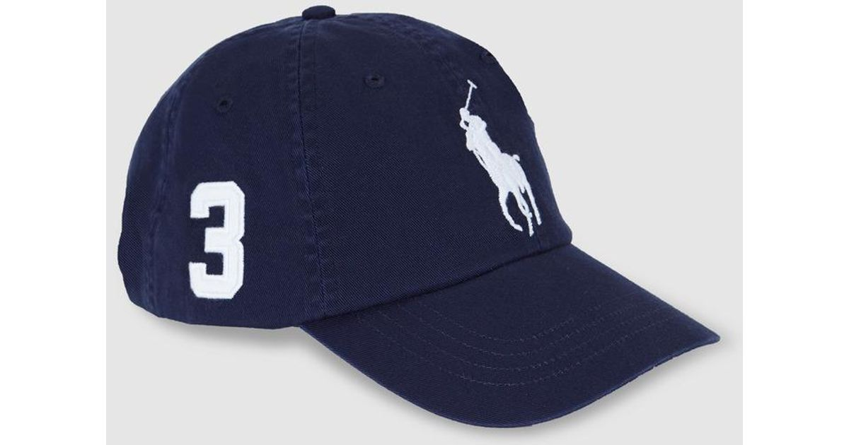 1289708a50425d Polo Ralph Lauren Mens Navy Blue Cotton Baseball Cap in White for Men - Lyst