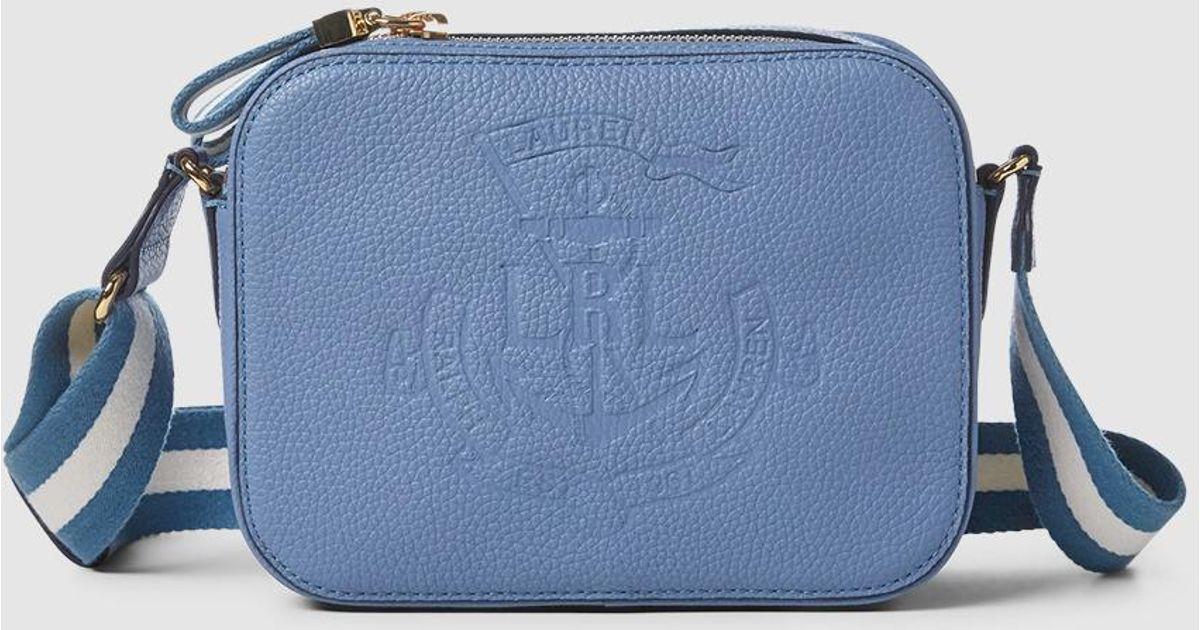 915abf8ee01f Lauren by Ralph Lauren Small Light Blue Calfskin Leather Crossbody Bag in  Blue - Lyst