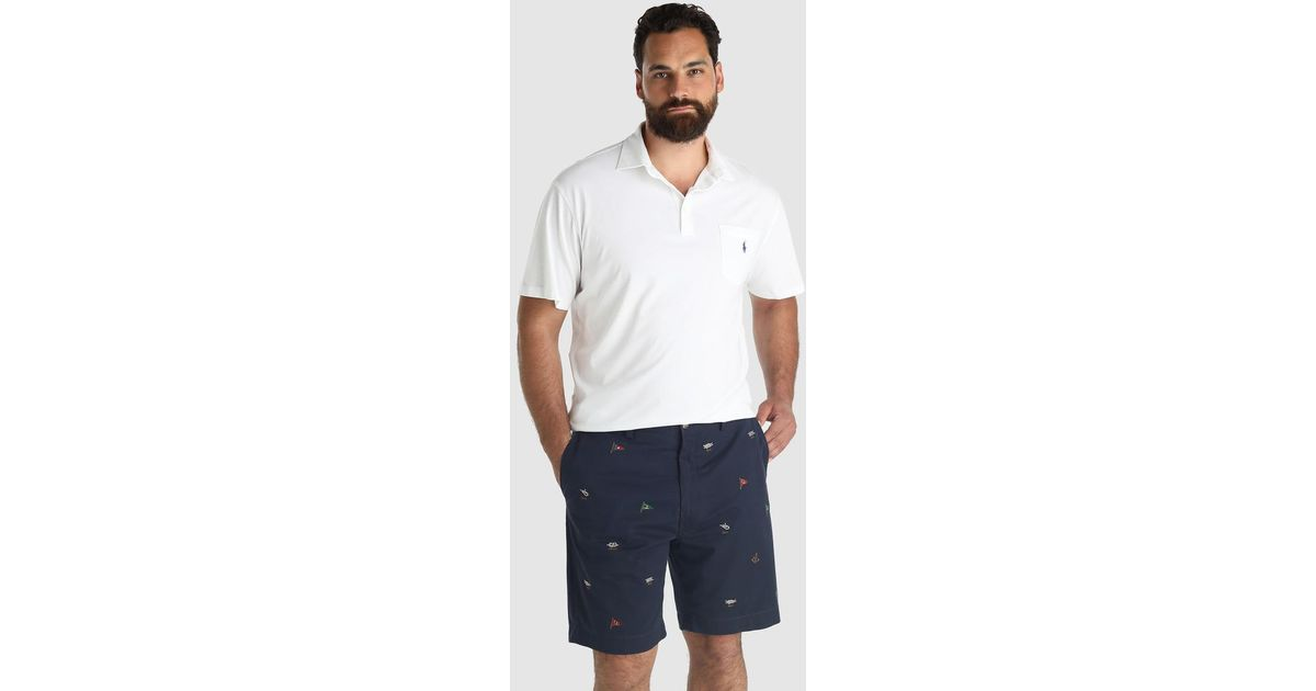 3a54b83a60 Polo Ralph Lauren Big And Tall Blue Printed Bermuda Shorts in Blue for Men  - Lyst