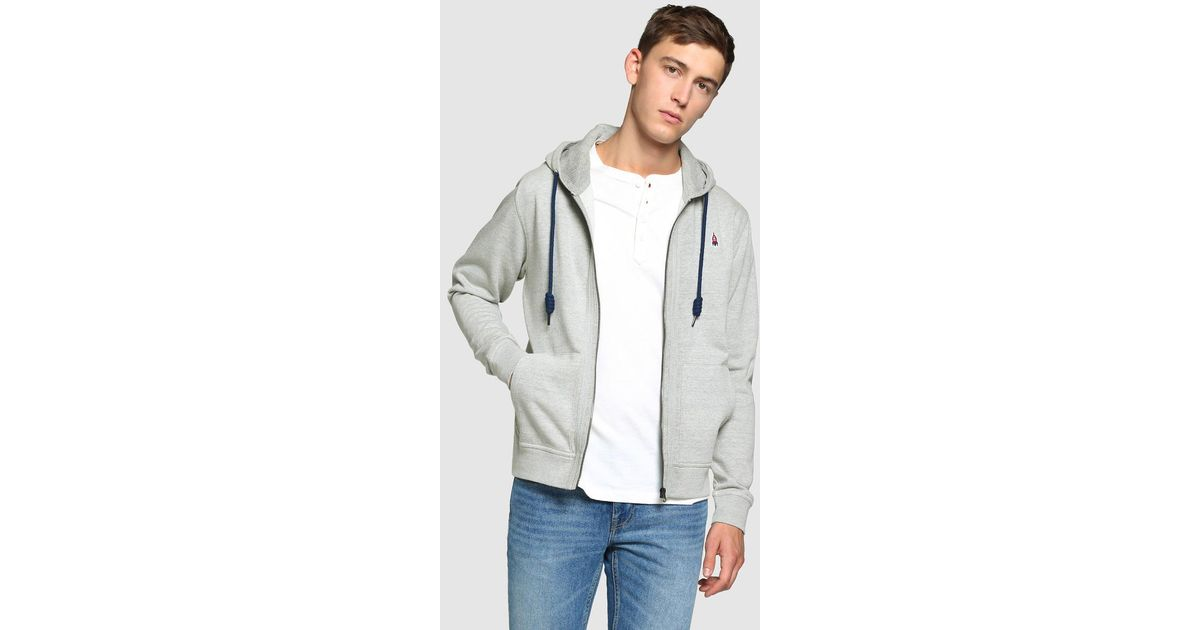 lyst green coast grey casual jacket with hood in gray