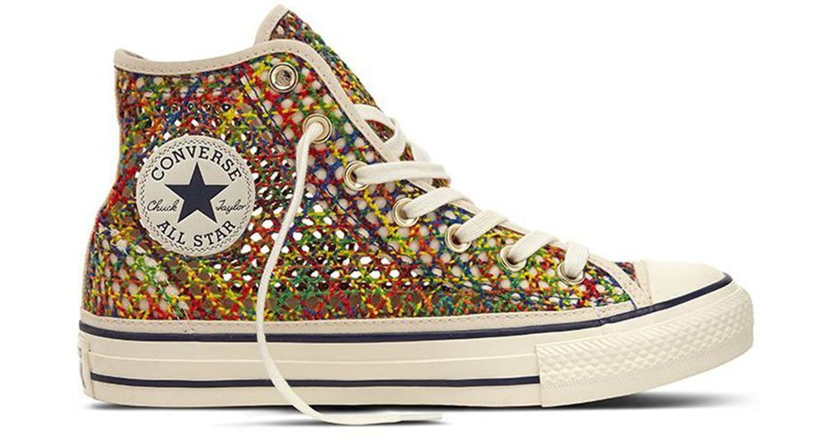 b426ca5bcb0 Converse Chuck Taylor All Star Handmade Crochet Casual Canvas High-top  Trainers - Lyst