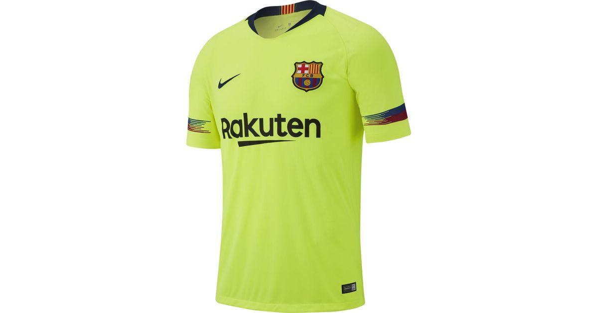 Nike Fc Barcelona 2018-2019 Breathe Stadium Away T-shirt in Green for Men -  Lyst 79c735c85