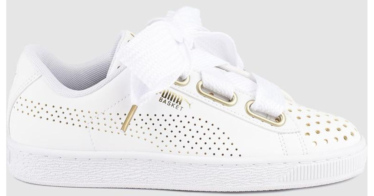 009fabcb2d0d PUMA Basket Heart Ath Lux Wn s in White - Lyst