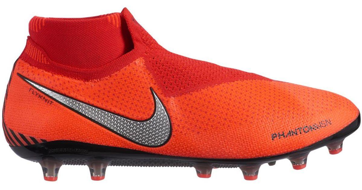 0541e5cacae Nike Phantom Vsn Elite Df Ag-pro Football Boots in Orange for Men - Lyst