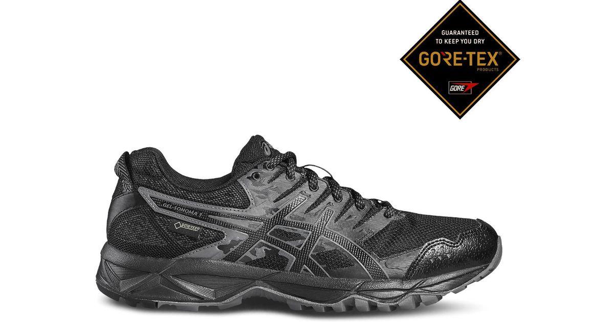 304269af351 Lyst - Asics Gel-sonoma 3 Gore-tex Trail Running Shoes in Black