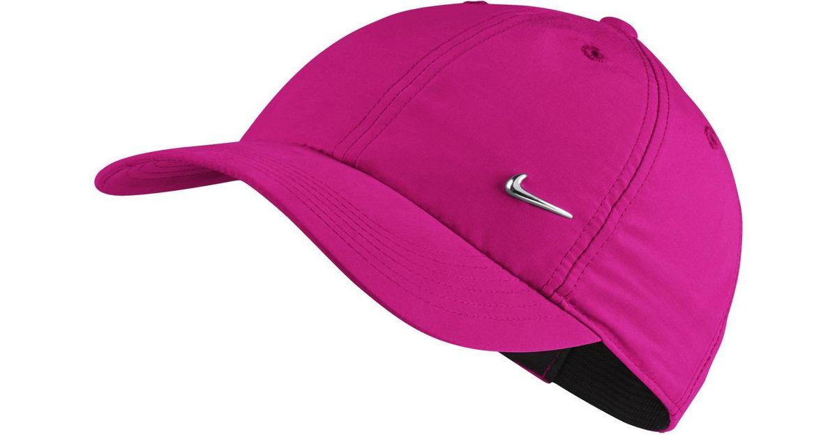 46286aa11aa1f Nike Metal Swoosh Logo Junior Cap in Black for Men - Lyst